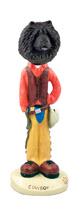 Chow Black Cowboy Doogie Collectable Figurine