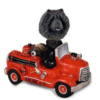 Chow Black Fire Engine Doogie Collectable Figurine