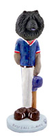 Chow Black Baseball Doogie Collectable Figurine