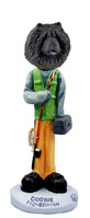 Chow Black Fisherman Doogie Collectable Figurine