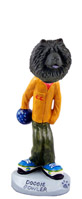 Chow Black Bowler Doogie Collectable Figurine