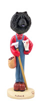 Chow Black Farmer Doogie Collectable Figurine
