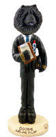 Chow Black Airline Pilot Doogie Collectable Figurine
