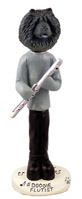 Chow Black Flutist Doogie Collectable Figurine