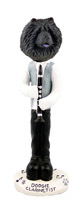 Chow Black Clarinetist Doogie Collectable Figurine
