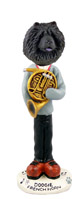 Chow Black French Horn Doogie Collectable Figurine