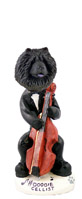 Chow Black Cellist Doogie Collectable Figurine