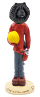Chow Black Construction Worker Doogie Collectable Figurine