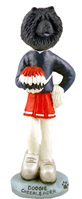 Chow Black Cheerleader Doogie Collectable Figurine