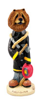 Chow Red Fireman Doogie Collectable Figurine