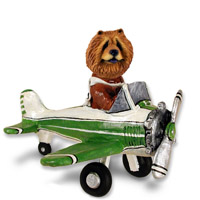 Chow Red Airplane Doogie Collectable Figurine
