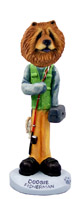 Chow Red Fisherman Doogie Collectable Figurine