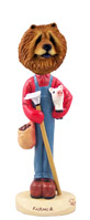 Chow Red Farmer Doogie Collectable Figurine
