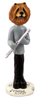 Chow Red Flutist Doogie Collectable Figurine