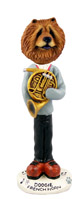 Chow Red French Horn Doogie Collectable Figurine