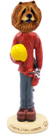Chow Red Construction Worker Doogie Collectable Figurine