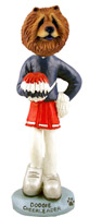 Chow Red Cheerleader Doogie Collectable Figurine