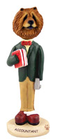 Chow Red Accountant Doogie Collectable Figurine