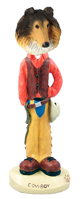Collie Sable Cowboy Doogie Collectable Figurine