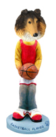 Collie Sable Basketball Doogie Collectable Figurine