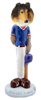 Collie Sable Baseball Doogie Collectable Figurine