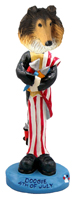 Collie Sable 4th of July Doogie Collectable Figurine