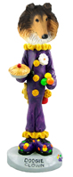 Collie Sable Clown Doogie Collectable Figurine