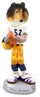 Collie Sable Football Player Doogie Collectable Figurine