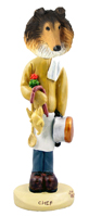 Collie Sable Chef Doogie Collectable Figurine