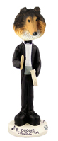 Collie Sable Conductor Doogie Collectable Figurine