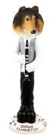 Collie Sable Clarinetist Doogie Collectable Figurine