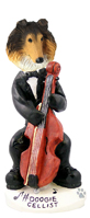 Collie Sable Cellist Doogie Collectable Figurine
