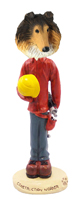 Collie Sable Construction Worker Doogie Collectable Figurine