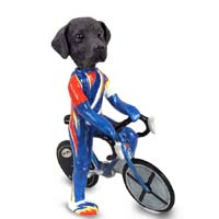 Labrador Retriever Black Bicycle Doogie Collectable Figurine