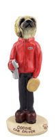 Pekingese Cab Driver Doogie Collectable Figurine