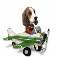 Basset Hound Airplane Doogie Collectable Figurine