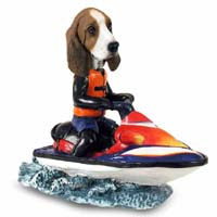 Basset Hound Jet Ski Doogie Collectable Figurine