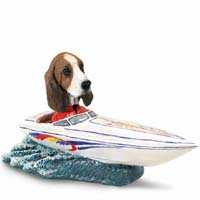Basset Hound Motorboat Doogie Collectable Figurine