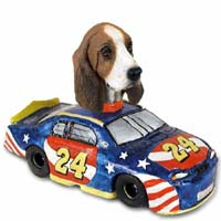 Basset Hound Race Car Doogie Collectable Figurine