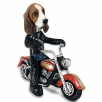 Basset Hound Motorcycle Doogie Collectable Figurine
