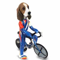 Basset Hound Bicycle Doogie Collectable Figurine
