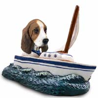 Basset Hound Sailboat Doogie Collectable Figurine