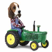 Basset Hound Tractor Doogie Collectable Figurine