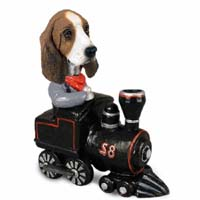 Basset Hound Train Doogie Collectable Figurine
