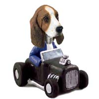 Basset Hound Hot Rod Doogie Collectable Figurine