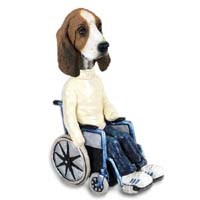 Basset Hound Wheelchair Doogie Collectable Figurine