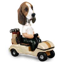 Basset Hound Golf Cart Doogie Collectable Figurine