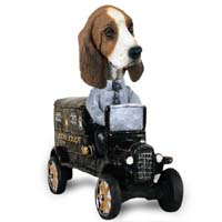 Basset Hound Paddy Wagon Doogie Collectable Figurine