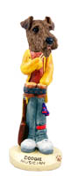 Airedale Musician Doogie Collectable Figurine