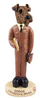 Airedale Commercial Driver Doogie Collectable Figurine